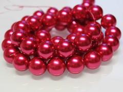 Voskované perly  16mm MALINOVÉ