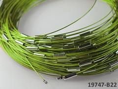 NEUKONČENÉ lanko Zelená obruč na náhrdelník se šroubkem