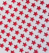 ČERVENÉ samolepící kamínky HVĚZDY hvězdičky