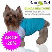Bundička pro pejska NEW YORK obleček pro psa světle modrý velikost XS