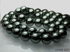 Voskované perly  16mm ŠEDOKHAKI