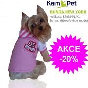 Bundička pro pejska NEW YORK obleček pro psa RŮŽOVÝ velikost XL