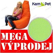 VÝPRODEJ ZELENÝ Sedací vak KamPet Beanbag 125cm EKOKŮŽE Comfort