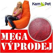 VÝPRODEJ BORDÓ žíhaný Sedací vak KamPet Beanbag 125cm EKOKŮŽE Comfort