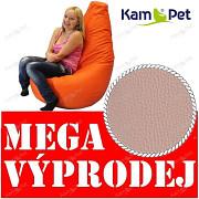 VÝPRODEJ KÁVOVÝ BE3 Sedací vak KamPet Beanbag 125cm EKOKŮŽE Comfort
