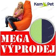 VÝPRODEJ MODRÝ/ZELENÝ Sedací vak KamPet Beanbag 125cm EKOKŮŽE Comfort