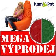 VÝPRODEJ ČERVENÝ/ZELENÝ Sedací vak KamPet Beanbag 125cm EKOKŮŽE Comfort