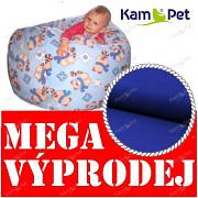 VÝPRODEJ MODRÝ 100% BAVLNA sedací vak KamPet Baggy 90