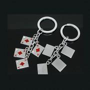 Klíčenka karty s kamínky vhodná jako dárek, 1ks