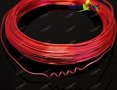 ČERVENÝ bižuterní drát hliníkový drát 1mm snadno tvarovatelný drát