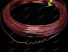 HNĚDÝ bižuterní drát hliníkový drát 1mm snadno tvarovatelný drát