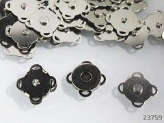 Přišívací magnetické zapínání kulaté 18mm BRONZ, 1ks