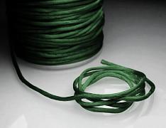 Saténová šňůrka 2mm TM.ZELENÁ