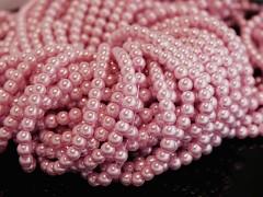 Voskované perly 10mm STARORŮŽOVÉ