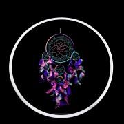Kruh na lapač snů kroužek bílý 10cm