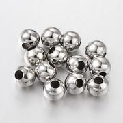 Platinové korálky kovové kuličky 8mm, á 1ks