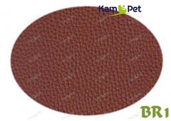 AKCE Hnědá koženka hnědá mléčná čokoláda BR1 látka čalounická koženka