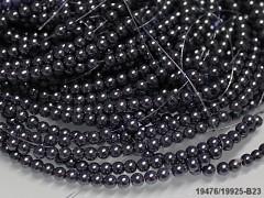 Voskované perly 10mm ŠEDÉ