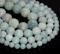 MODRÝ akvamarín kuličky 10mm přírodní minerál korálky z minerálů