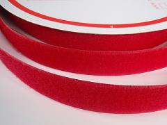 Suchý zip šíře 25mm červený KOMPLET