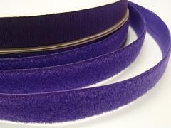 Suchý zip šíře 25mm tm.fialový KOMPLET
