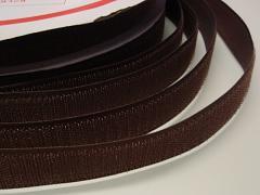 Suchý zip šíře 25mm hnědý KOMPLET