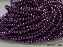 Korálky voskované perly 4mm TM. FIALOVÉ