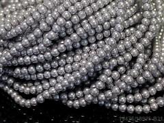 Korálky voskované perly  4mm STŘÍBRNÉ