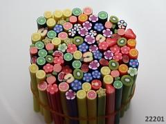 Pestrobarevný MIX korálky FIMO tyčinky 50/3-6mm bal. 3ks