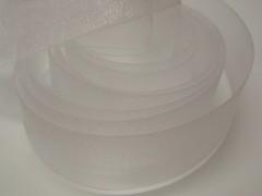 Bílá stuha organzová 40mm organza stužka šifónová bílá, svazek 3m