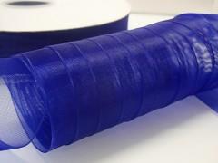 Modrá kobaltová stuha organzová 40mm organza stužka šifónová modrá nivea, svazek 3m