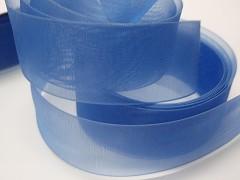 Modrá světle stuha organzová 50mm organza stužka šifónová světle modrá, svazek 2m