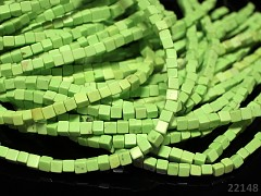 Přírodní TYRKYS limetkově zelený, kostičky