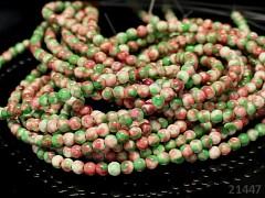 ZELENOORANŽOVÉ  jadeit kuličky 4mm přírodní, bal. 10ks