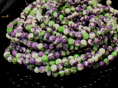 ZELENOFIALOVÉ jadeit kuličky 4mm přírodní, bal. 10ks