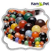 Pestrobarevný ACHÁT MIX, kuličky 4mm přírodní minerál