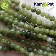 Zelený olivový JADEIT kuličky 4mm přírodní minerál