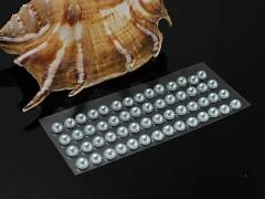 STŘÍBRNÉ  samolepící perly 5mm