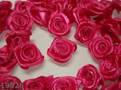 CYKLÁMOVÉ saténové růžičky k zdobení,  bal. 10ks