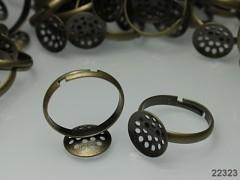 Základ pro prsten 17/12 prošívací  L=12,  bronz