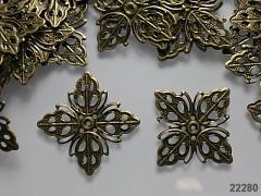 Filigránový komponent mezidíl bronz 35mm, bal. 5ks