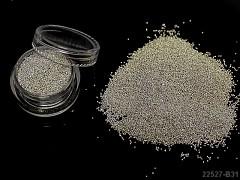 Skleněné mikroperličky k dekoraci v dóze STŘÍBRNÉ á 1ks