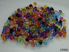 Pestrobarevné korálky broušené akryl 6mm, bal. 5.5g ± 60ks