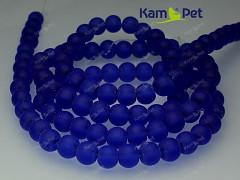 Modré korálky skleněné frost 6mm, bal. 20ks