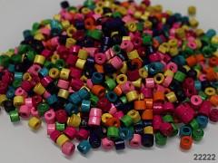 Pestrobarevný MIX korálky dřevěnékroužky 5/4 bal. 10g ± 250ks