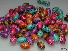 Pestrobarevné korálky akryl melírované 13mm, bal. 15ks