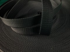 ČERNÝ popruh polypropylénový šíře 25mm PP popruh 2,5cm, á 1m