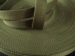 ZELENÝ KHAKI popruh polypropylénový šíře 25mm PP popruh 2,5cm