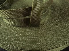 Popruh polypropylénový šíře 25mm KHAKI, á 1m