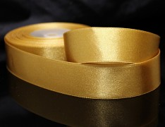 Zlatá stuha atlasová PERLEŤOVÁ luxusní stuha 25mm stužka zlatá